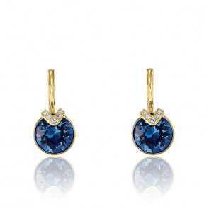 Boucles d'oreilles Bella V bleues & métal doré