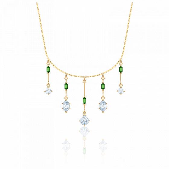 Collier Oz vert & métal doré - Swarovski - Ocarat