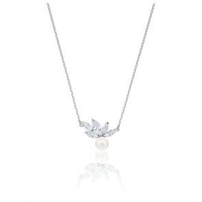 Collier Louison pearl blanc & métal rhodié