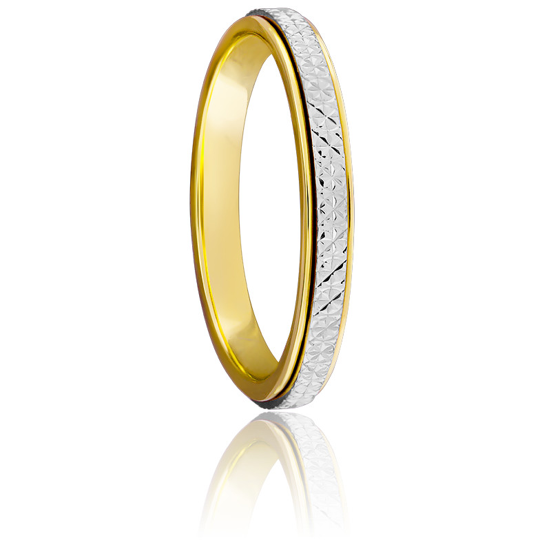 Alliance Ruban diamanté 2 Ors 18K