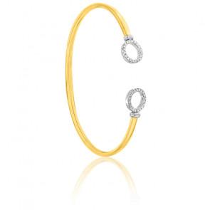 Bracelet Flixo rondelles 2 ors 9K & 40 diamants