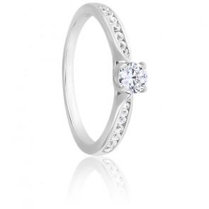 Bague Solitaire Grace Diamant 0,20 ct & Or Blanc 18K