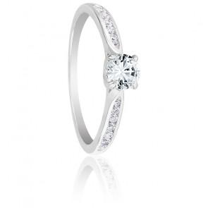 Bague Solitaire Grace Diamant 0,30 ct & Or Blanc 18K