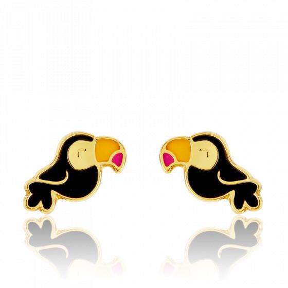 boucle d'oreille toucan