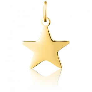 Pendentif étoile or jaune 9 & 18 K