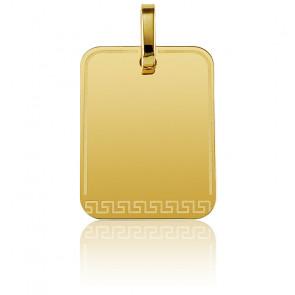 Pendentif personnalisé motif grec or jaune