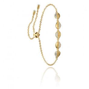 Bracelet Shell cowrie blanc & métal doré