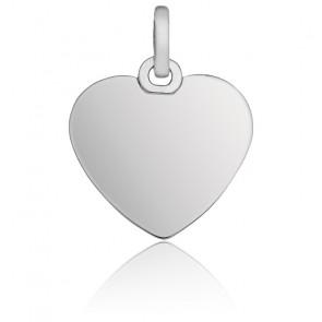 Pendentif coeur or blanc 9K ou 18K