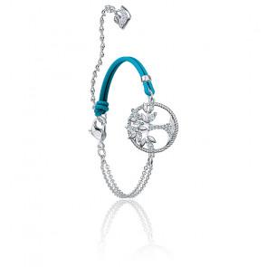 Bracelet swarovski symbolic tree of life, bleu, métal rhodié