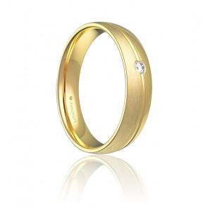 Alliance Veroa 4,50 mm or jaune 18K & diamant