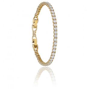 Bracelet Tennis deluxe blanc & métal doré
