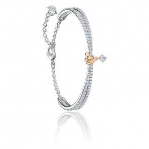 Bracelet Lifelong heart blanc & mix de métal