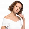 Collier Attract soul blanc & métal rhodié