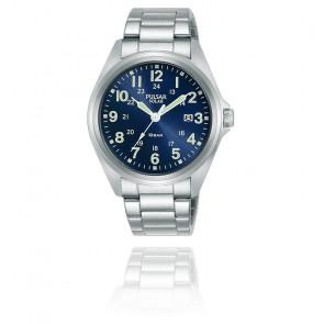Montre Homme Sport Solaire Acier Bleu PX3217X1