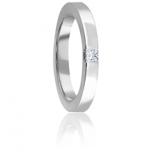 Alliance Diamant Princesse 0,11 ct & Or Blanc 18K