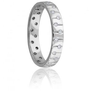 Alliance Cassiopée Diamants 0,28 carat & Platine