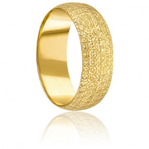 Alliance Diamantée XL Or Jaune 18K