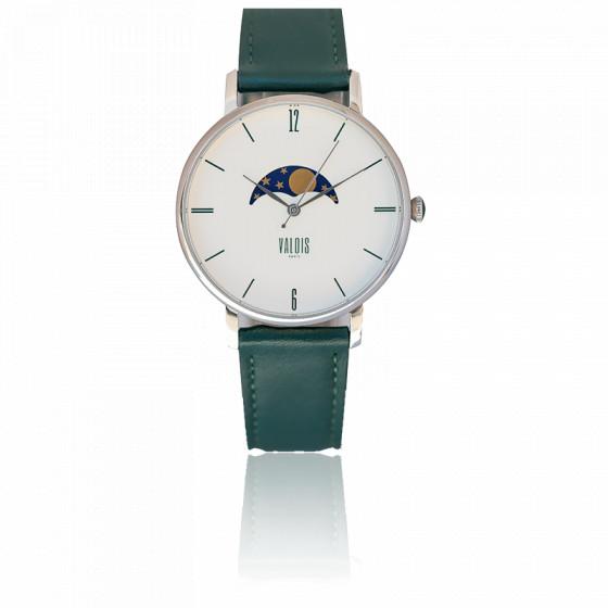 Montre Valois Phase de Lune Bracelet Vert