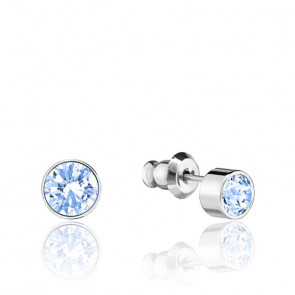 Boucles d'oreilles cristaux de Swarovski blanc