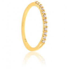 Alliance Rieuse Or Jaune 9K & diamants 0,13 ct