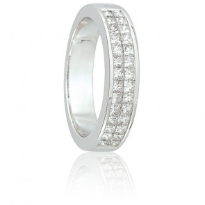 Alliance Abina Or Blanc 18K et Diamants