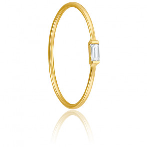 Bague diamant baguette 0,05 carat & or jaune 18K