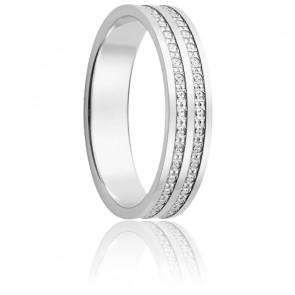 Alliance Marilhat Double 4,50 mm or blanc 18K
