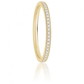 Alliance nelly diamants 0,10 ct & or jaune 18K