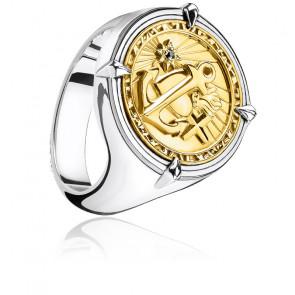 Bague foi, amour, espoir en argent plaqué or-  TR2246-849-39