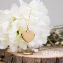 Pendentif coeur et diamant, or jaune 18K