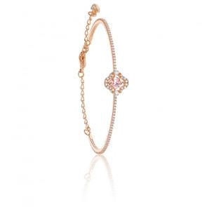 Bracelet-jonc Swarovski Sparkling Dance, rose, métal doré rose