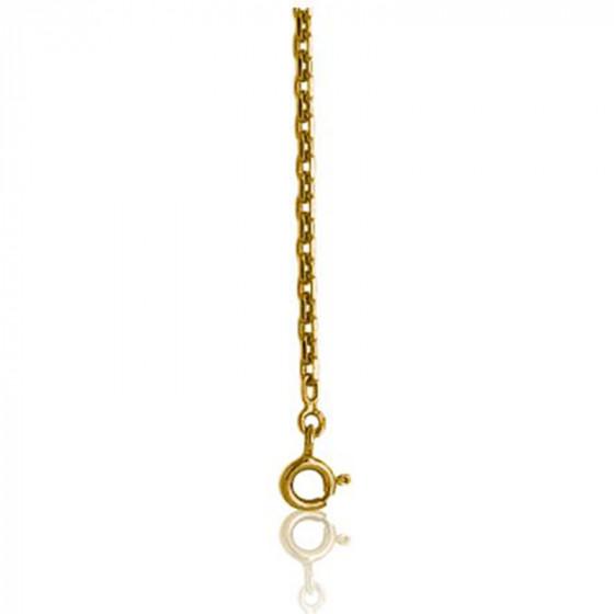 Chaîne forçat diamantée, plaqué or jaune 18K, longueur 45 cm