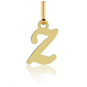 Pendentif Z, Or jaune 18K
