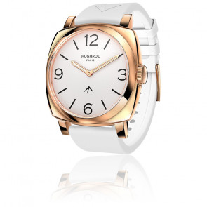 Montre Golden Chic Cadran Blanc Bracelet Silicone Blanc
