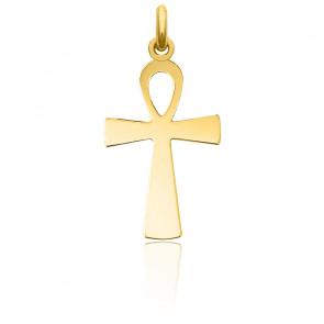 Croix de Vie Polie Or Jaune 18K
