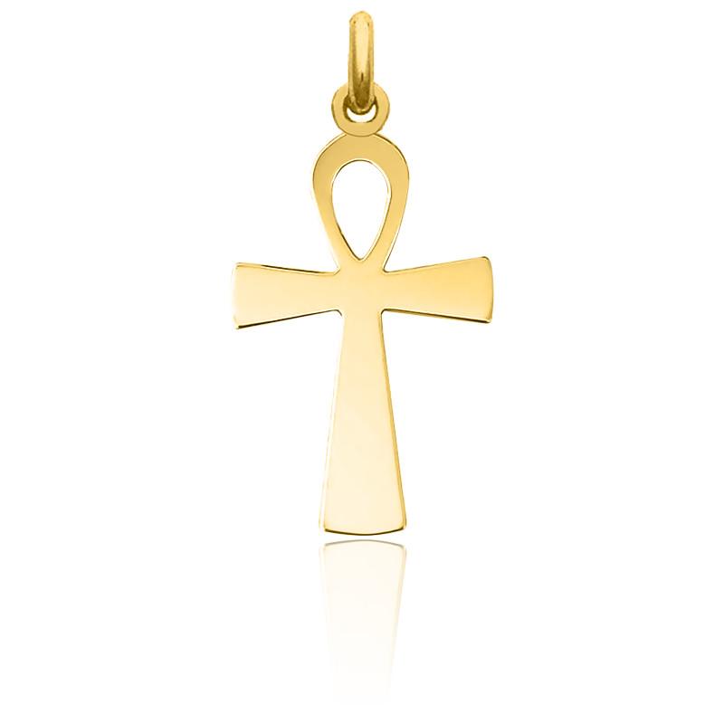 Croix de Vie polie 17 x 32 mm Or Jaune 18K