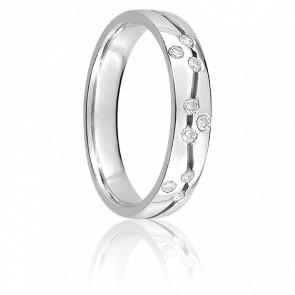 Alliance Rana or blanc 9K & diamants