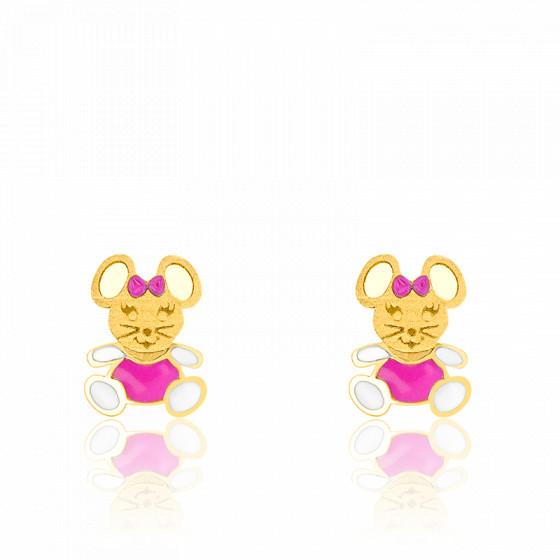 Boucles d'oreilles Souris Or jaune 9K