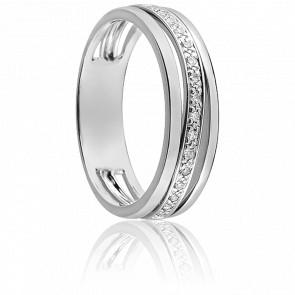 Alliance Lamia or blanc 9K et diamants