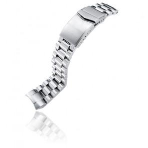 Bracelet Acier 316L 22mm Endmill SS221820B060 pour Orient Mako II & Ray II