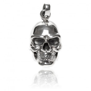 Tête de mort pendentif skull argent