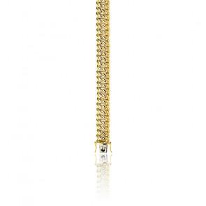 Bracelet Maille Américaine, Or Jaune 18K, longueur 18 cm