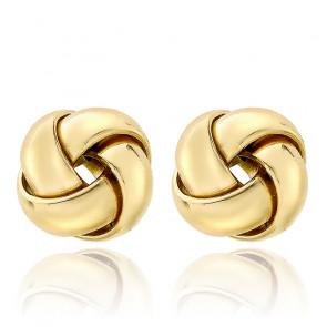 Boucles d'oreilles rondes croisées 10 mm Or jaune 9K