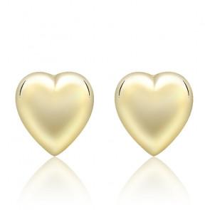 Clous d'oreilles Coeur Or jaune 9K