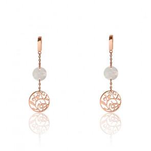 Boucles d'oreilles Eolia BJ03A2491 Doré Rose