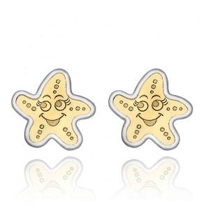 Clous d'oreilles étoile de mer 2 Ors 9K