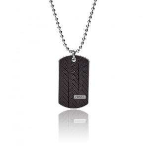 Collier avec plaque militaire en acier inoxydable, JF03395040
