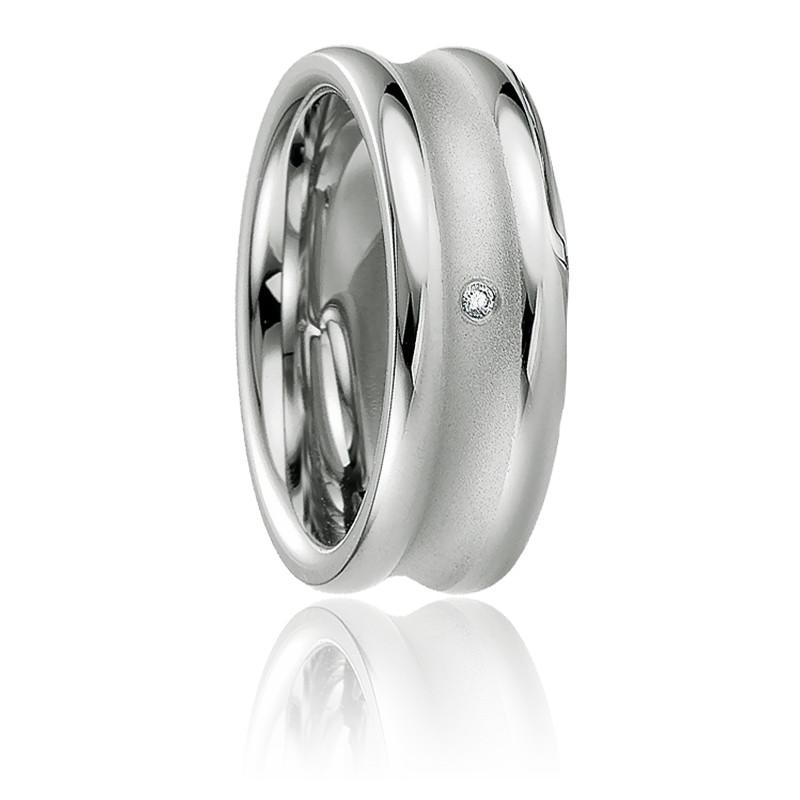 Alliance Corinthe Argent 925 & Diamant