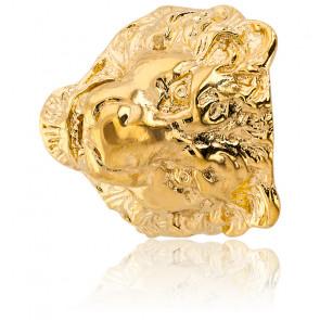 Chevalière tête de Lion Grand Modèle, Plaqué or