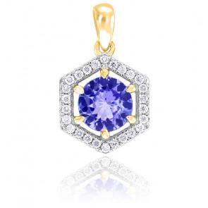 Pendentif Or jaune 18K Diamants & Tanzanite